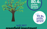 In Q1 2017, greenfield investment are majority
